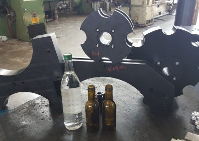 Various parts for bottling machines